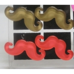 Boucles d'oreilles moustache multi Lot de 12 Paires