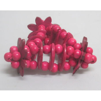 Bracelet wood fuschia