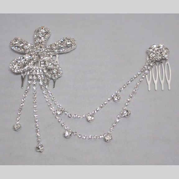Jewel for Head flower silver