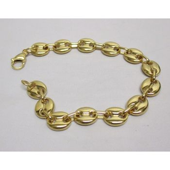 golden bracelet man steel coffee bean