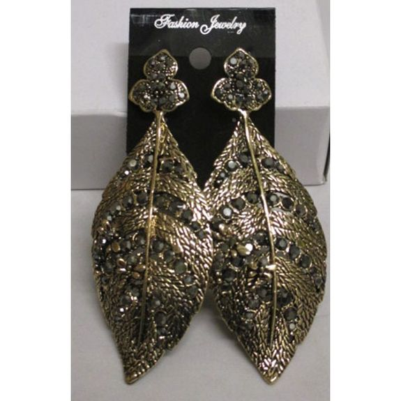 Earring laurel leaf