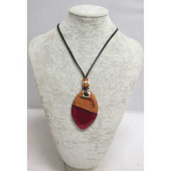 jewelry woman resin and wood
