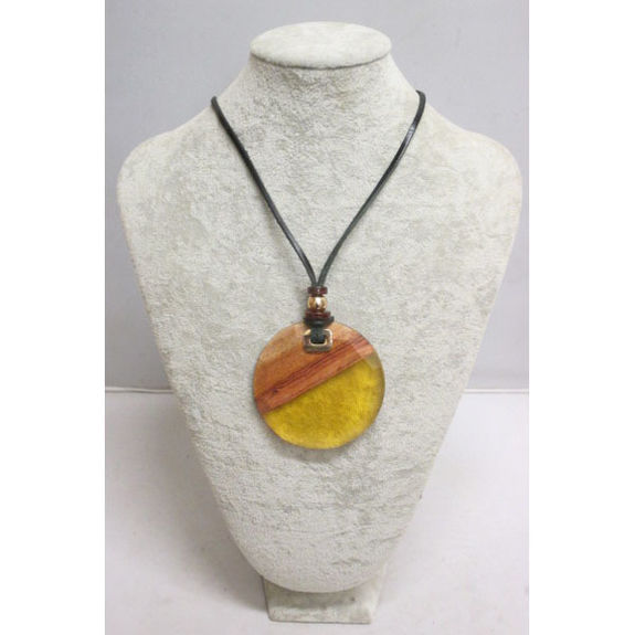 yellow resin necklace