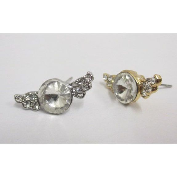 golden silver crystal earring in quantity