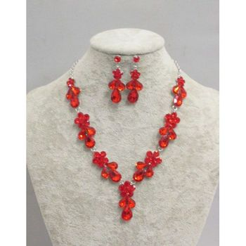 red crystal jewelry typing