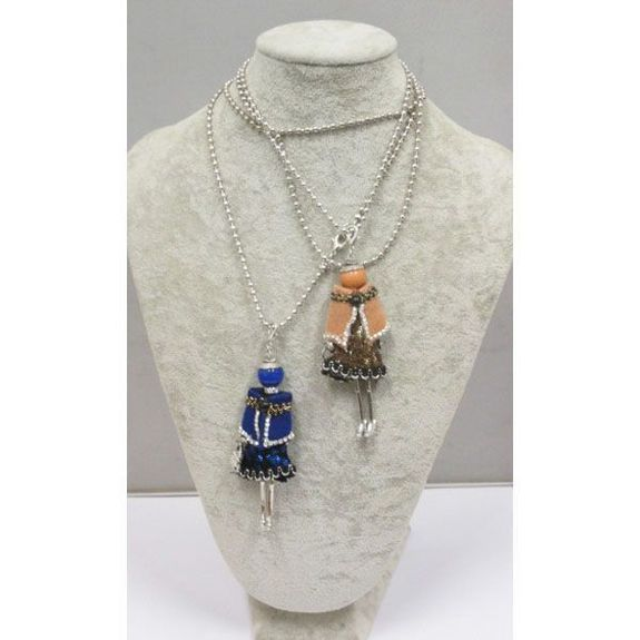 long necklace pendant doll bumper against the cold