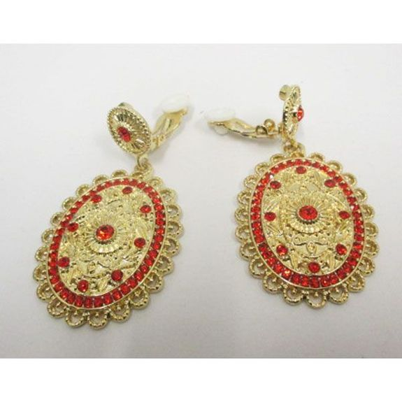 Oriental fashion clip earrings