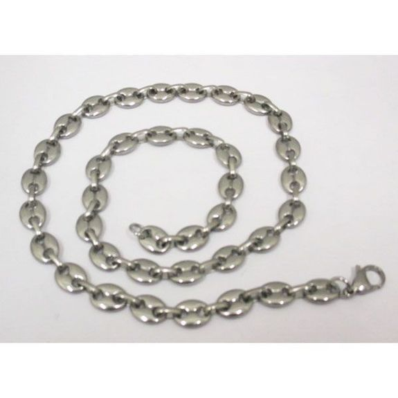 chain stainless steel man coffee bean