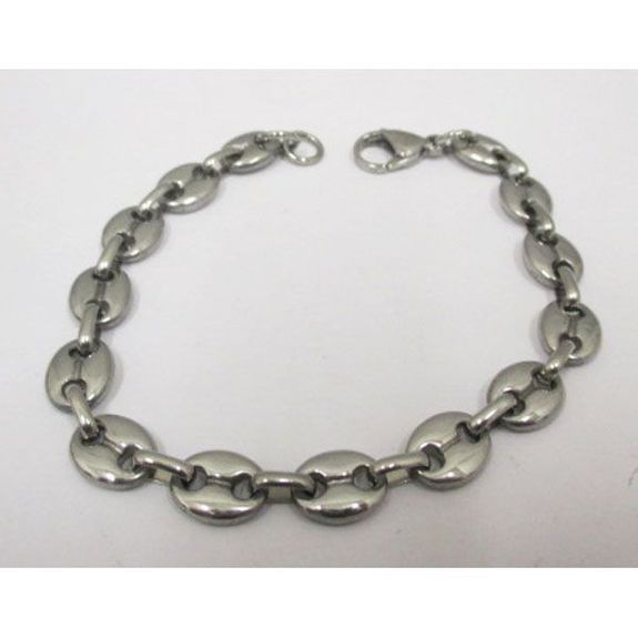 stainless steel mesh coffee bean bracelet