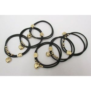 to attach your hair with heart pendant bracelet