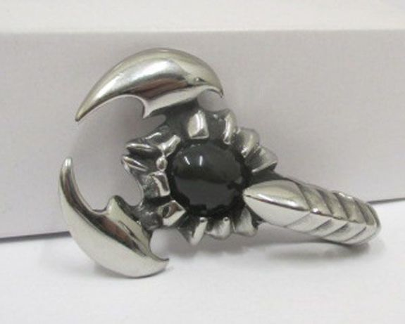 scorpion steel pendant with its tail