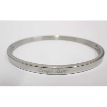 bracelet jonc message carpe diem
