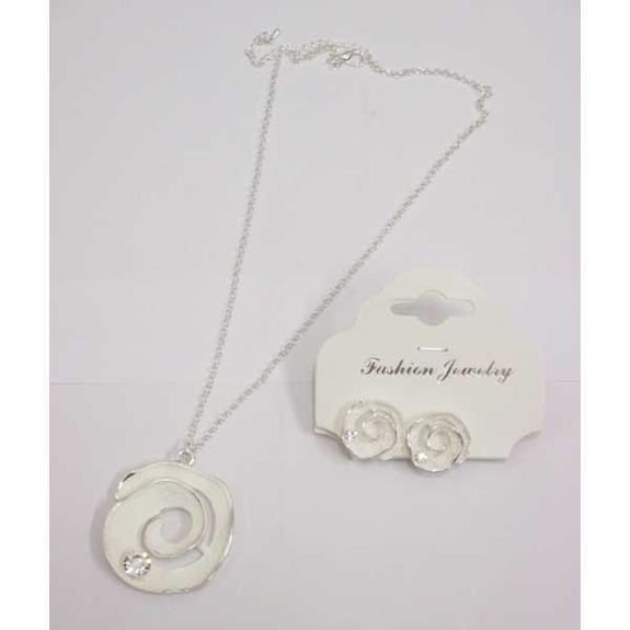 jewelry necklace earring all white