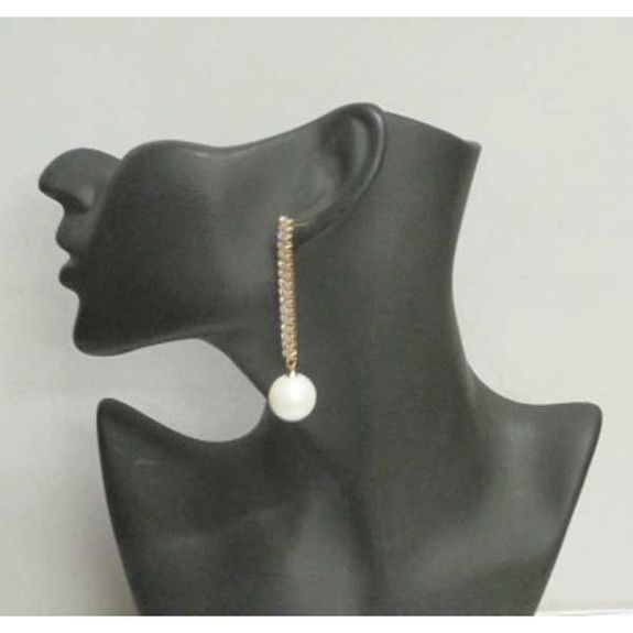 jewelry pendent crystal earring with pearl at the end