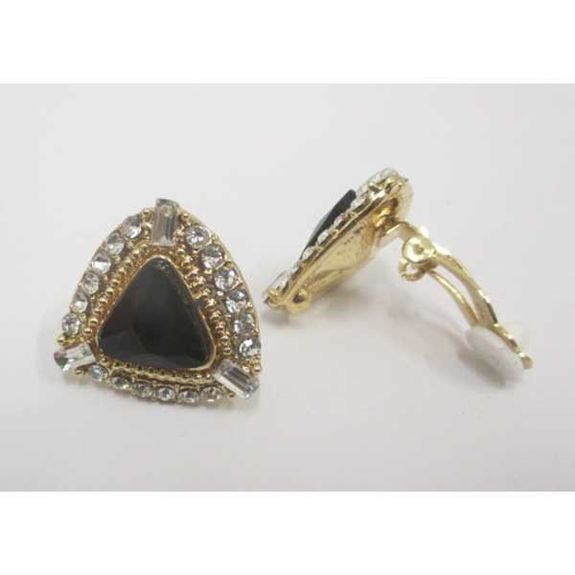 earring crystal triangle clip