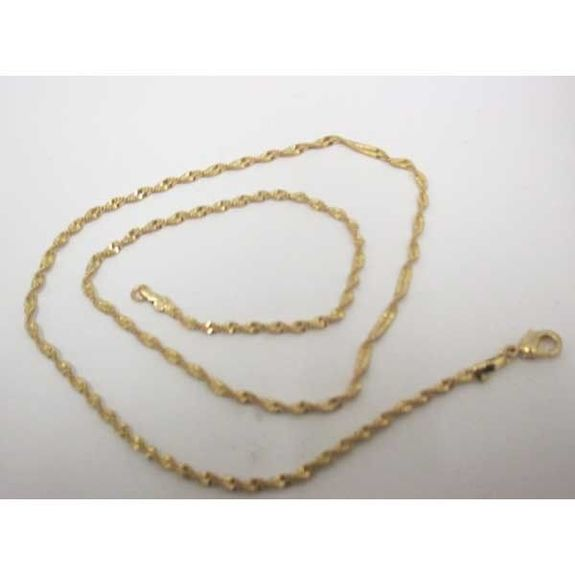twisted gold metal chain necklace