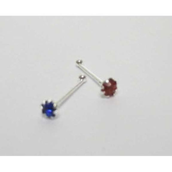 piercing straight nose crystal color