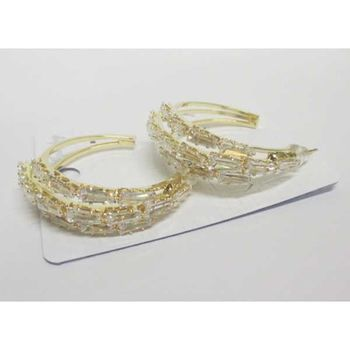 half hoop crystal gold