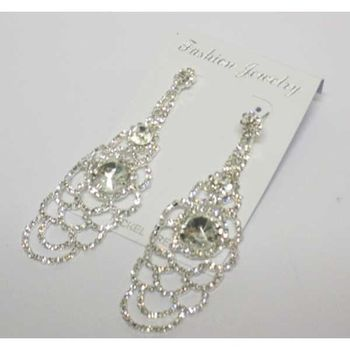 wear crystal rhinestone earrings