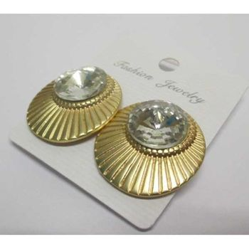 clip-on crystal shell earring