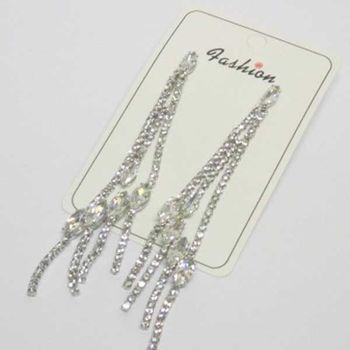 long rhinestone crystal earring