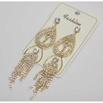 golden mesh earrings