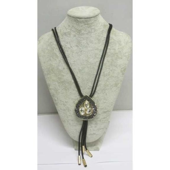 rubber jewelry with crystal drop pendant