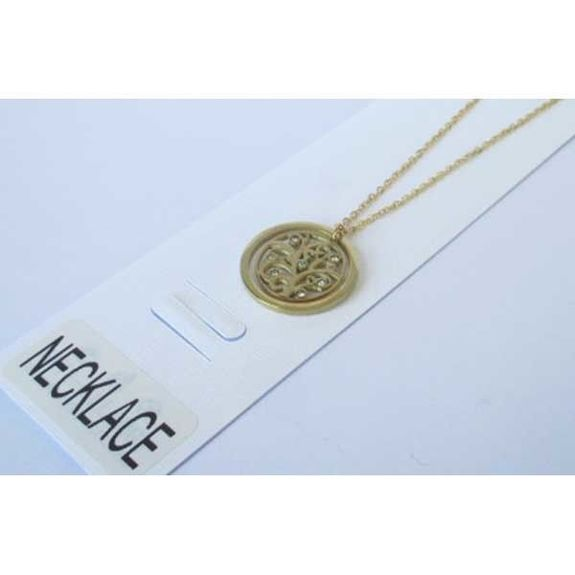 Jewelry steel necklace golden tree of life circle
