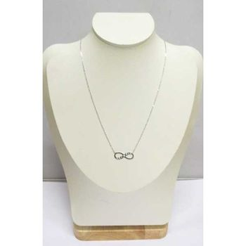 infinity necklace with crystals