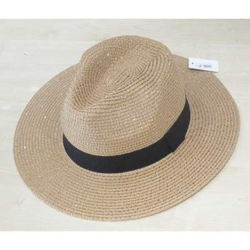 straw hat with rhinestones