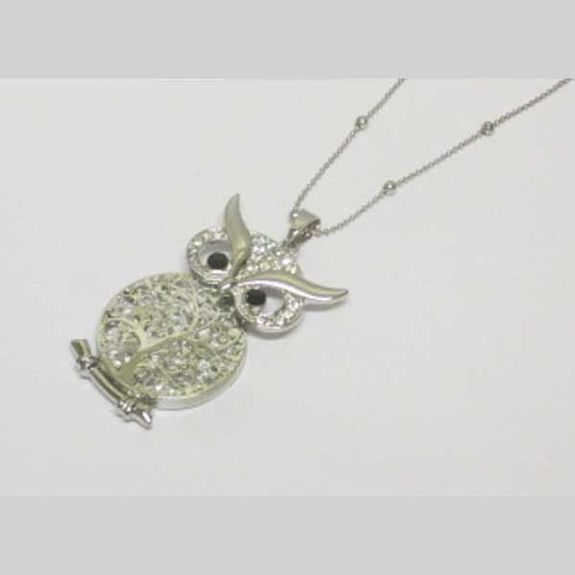jewelry owl necklace crystals