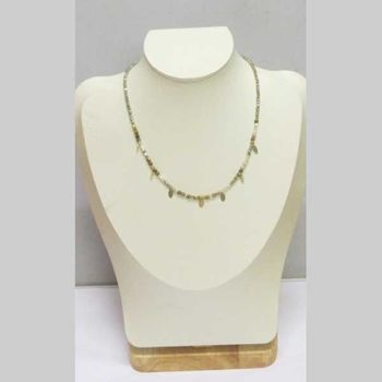 jewelry chain beads stones charms leaves steel