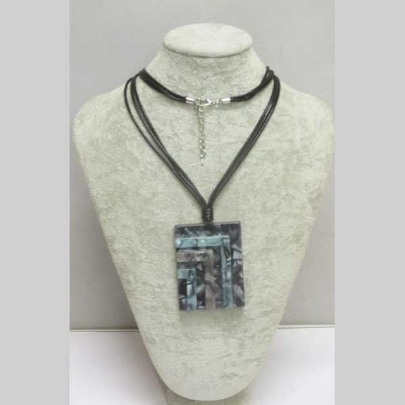 resin rectangle necklace