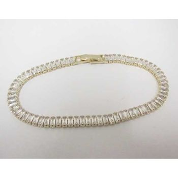 A row of crystal end bracelet