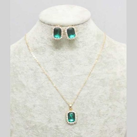 low-cost green crystal jewelry