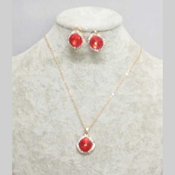 cheap red crystal jewelry