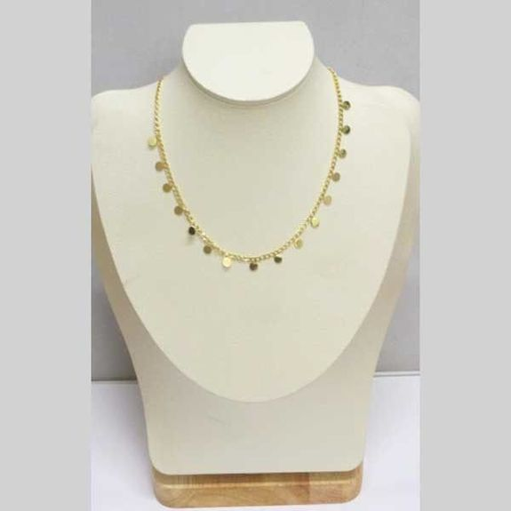 golden stainless steel washer necklace
