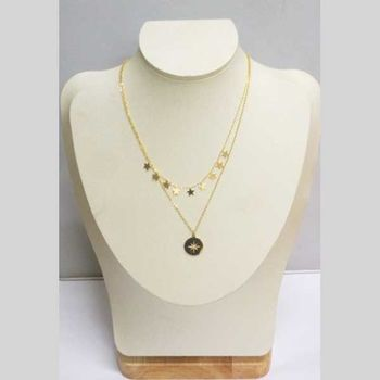 double chain jewelry golden steel star north