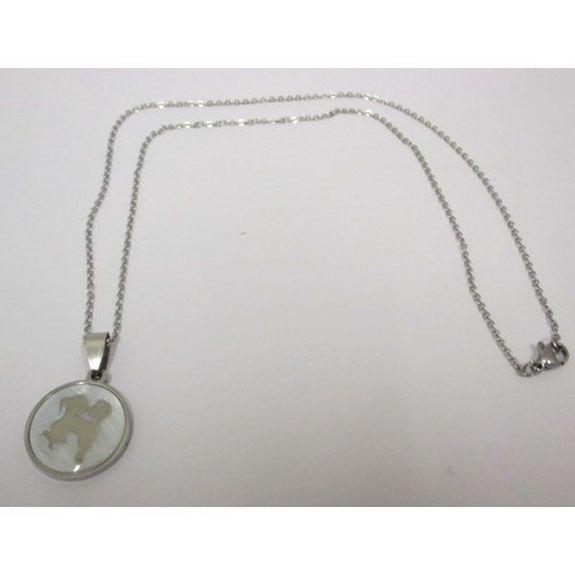 necklace couple mother of pearl steel