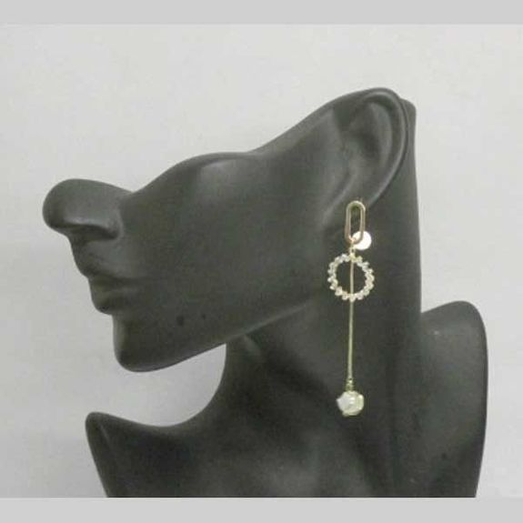 rhodium-plated jewelry earrings mismatched gold