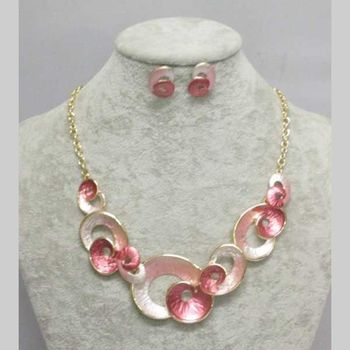 horn colored enamel necklace jewelry