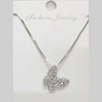 crystal butterfly pendant jewelry