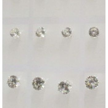white zirconium jewelry of various sizes