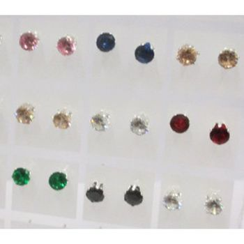 zirconium earrings of all colors