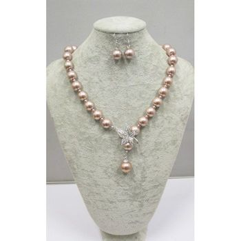 fashion big pearl necklace