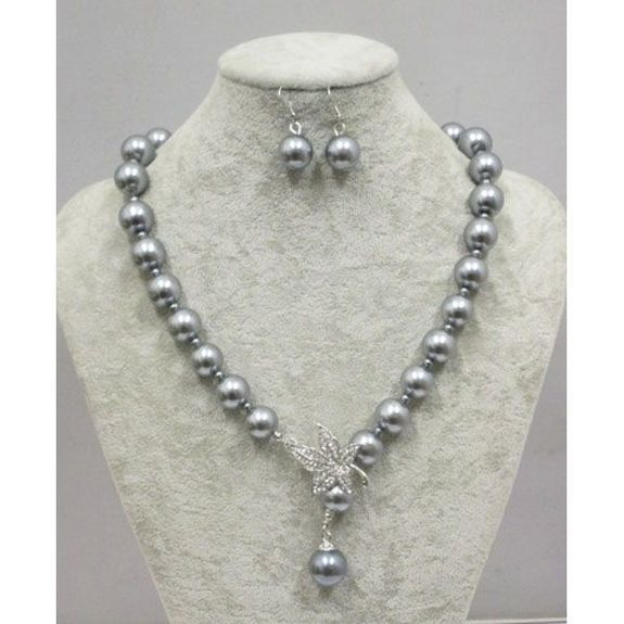 wholesale gray pearl jewelry