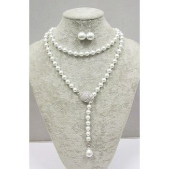 Pearl long necklace for women
