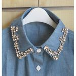 Removable collar denim