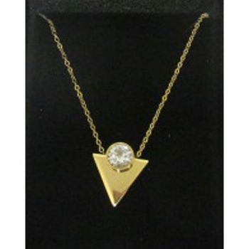 steel triangle pendant