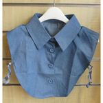fake denim shirt collar